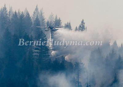 "_M173618    Float Plane ""Fireboss"" battling a forest fire at Sorrento BC"