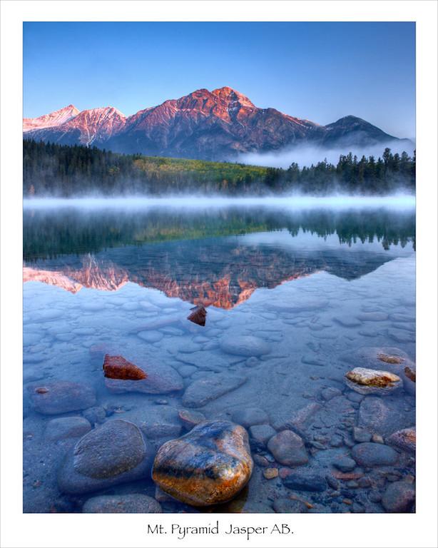 Sunrise Mt. Pyramid  Jasper Alberta<br /> _A040515
