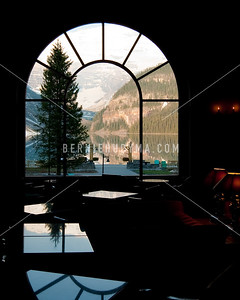 A view from inside of Chateau Lake Louise  _A031178