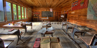 Inside of a old school house @ Three Valley Gap BC _A051276
