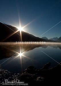 Sunrise Over Bow Lake A071764