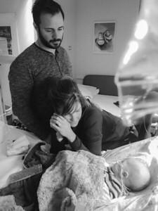 Baby Luke in hospital 2-19-16