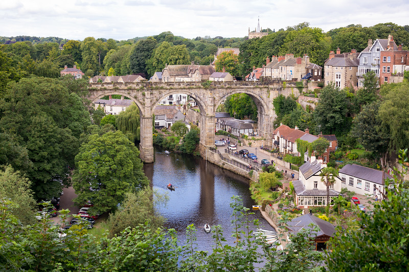 River Nidd and Railway Viaduct - Knaresborough North Yorkshire UK 2017