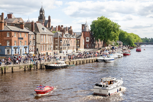 A Summer's Day View From Ouse Bridge - York North Yorkshire UK 2020