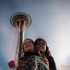 087 Lisa & Abi at the Space Needle - Seattle