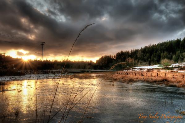 055 Pond Sunset - Redmond