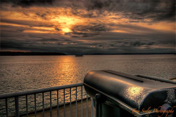051 Sunset Over Elliott Bay - Seattle