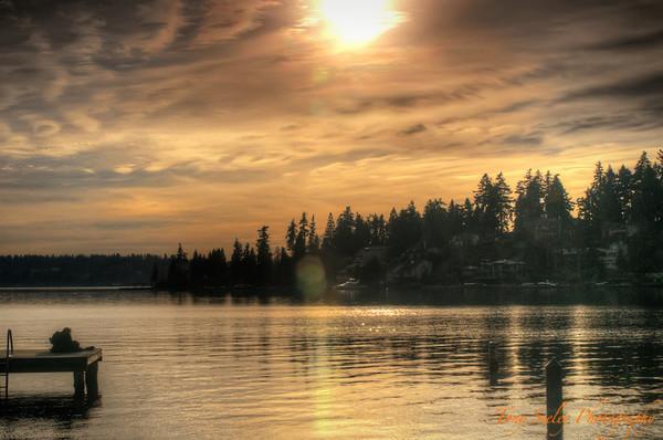 039 Sunset at Clyde Beach Park - Bellevue