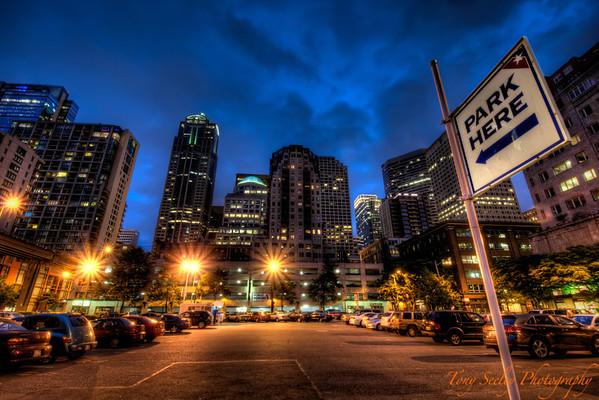161 Night Skyline - Seattle