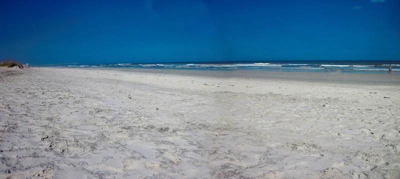 Playing with the panoramic stitch feature on my new beach camera You can kinda see where the two photos merge but overall a pretty good job.