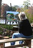 Artist at work. Our day off together and the weather cooperates for some outdoor shooting and some Plein air painting.