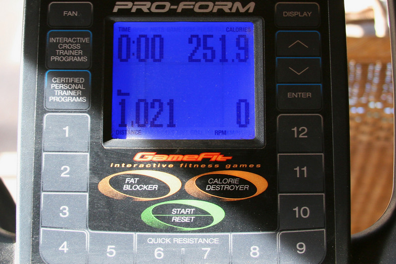 0ne mile, 20 minutes and 250 calories. Not that hard. If I could just make myself do it 3 times a week instead of  every few days sporadically like I do! I am too lazy and it is showing!