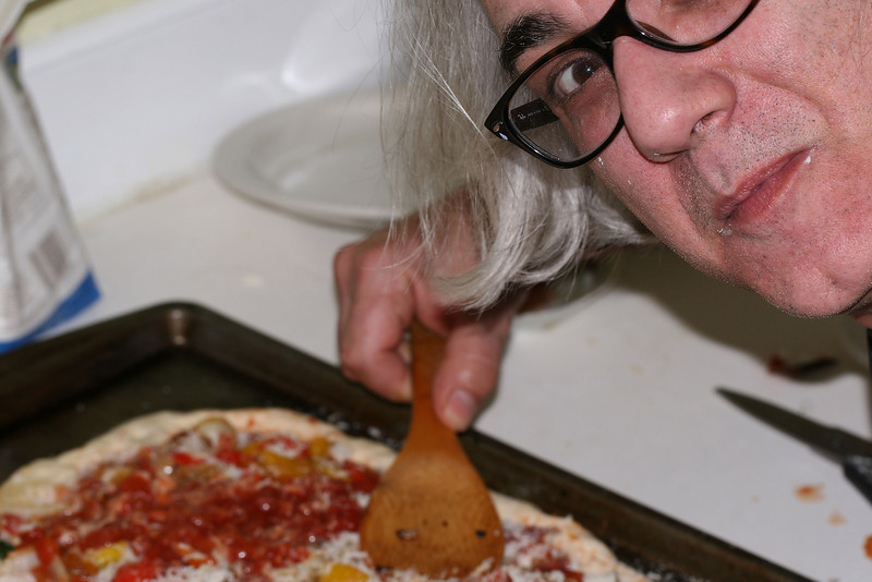 Don't get between a man and his pizza. Chef Joe is at it again.
