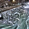 "2017.01.07<br /> Saturday <br /> ""cold day for a bike ride""<br /> Headed into town today for a little birthday dinner for JJ. Can't remember the last time I saw STHLM covered in this much snow.....feeling like a kid again."