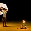 "'Fire"" - 17 May. Beach performance outside a restaurant on Koh Samet"