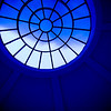 Sun 21st Oct - Rome...? No, the entrance to our building looking up through the round ceiling... Its not this blue in reality (not blue at all to be honest) but i think it makes it a little bit more interesting like this..