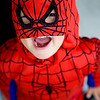 Sun 28th Oct - Halloween party for the kids at O'Malleys - Mika choose to be Spiderman..