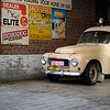 Thu 18th Oct - Day two in Antwerp and on my way back to the airport when I spotted this classic  Volvo PV. It brought back many memories from when I was younger and we spent days and days repairing my friend Peter Bomans old grey one...