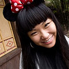 """""""Minnie"""" - Fri 18 Jan<br /> <br /> Our own little Minnie at Disneyland. But after having had breakfast with Mickey, Minnie and the whole bunch at the hotel this morning, you need more than a couple of Minnie ears to impress on us... !!!  <br /> <br /> (but you are cute anyway, says both Mika and me)"""