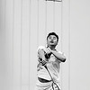 """""""Smash"""" - Sat 15 Mar<br /> <br /> Today was """"play"""" day of the yearly meeting. Three activities to choose from and I played badminton (first time in 5 yrs), and did ok, loosing barely to the guy who came second..<br /> <br /> Here he winner, Mike Yang, my area manager in Beijing"""
