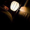 """""""Night light"""" - Fri 17 Oct<br /> <br /> Exhausted after a week of meetings and taking care of people.. : )<br /> <br /> Just managed to snap a picture of Jen preparing to sleep, before the day was over..."""