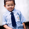 """School start"" - Tue 2 Sep<br /> <br /> Today was first day for Mika in the new English kindergarten, and we all left together as the school is three blocks away, but on the way to my office.<br /> <br /> Mika proud in his new school uniform, but the joy today was short... an hour later the teachers called Jen back and said the close they school today due to the State of Emergency, declared earlier this morning.<br /> <br /> Not that the demonstrations would affect us but seems the schools want to avoid people traveling around town picking up kids from schools, therefore the temporary close. Politically it's a mess at the moment and nobody really nows how this will end..."