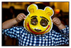Sun 11 April - Pooh<br /> <br /> Sunday and joint birthday party for Felix and Elisabeth at Paulaner. Kids playing games and making masks, while daddies trying the fresh weiss bier