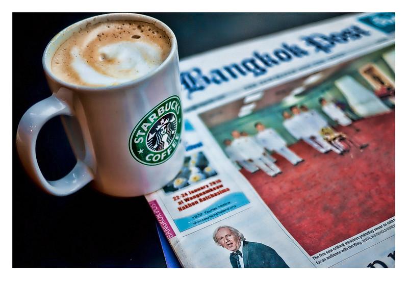 Grande Cappuccino and Bangkok Post
