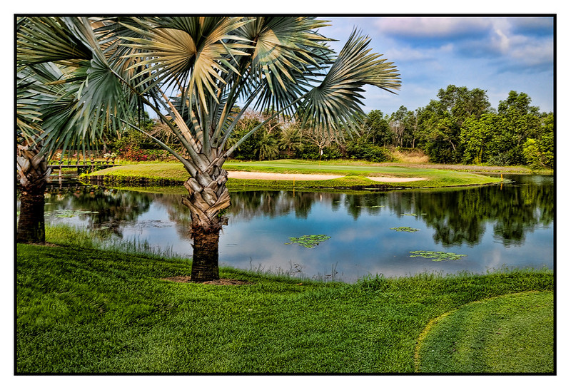 Sat 20 Feb - Par 3<br /> <br /> Golf today with Yamaha friend Mitsuru San at Watermill golf course some 80km outside Bangkok. A great day and not too hot as day was mostly cloudy.