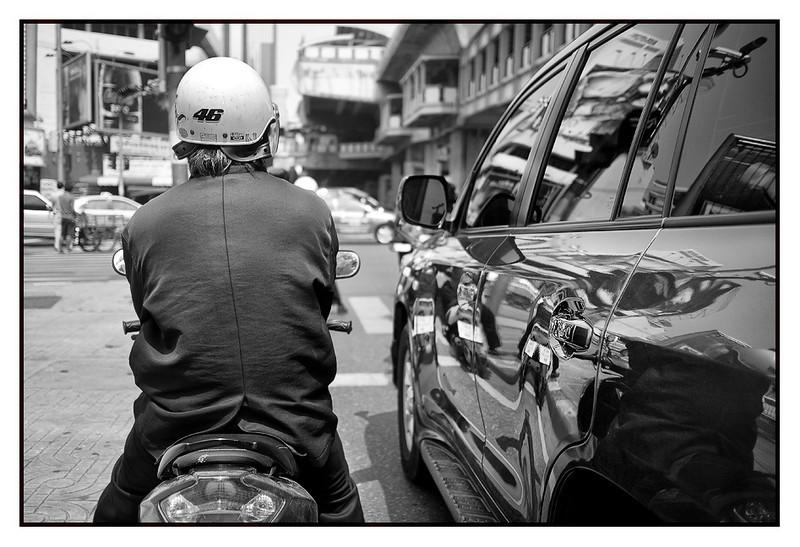 Waiting at the traffic lights on Sukhumvit, Asok intersection
