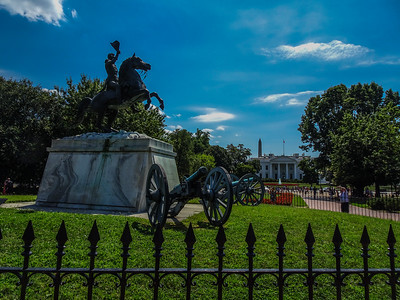 I got Old Hickory, the White House and the Washington Monument in the same shot.
