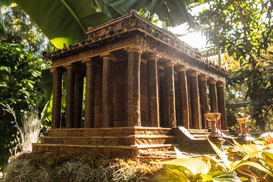 Every year the US Botanic Garden puts on a display in the Fall through Christmas of miniature Washington DC monuments and prominent buildings. The miniatures are made from plants and other botanical matter. This is a shot of the Lincoln Memorial. I thought the light was pretty good.