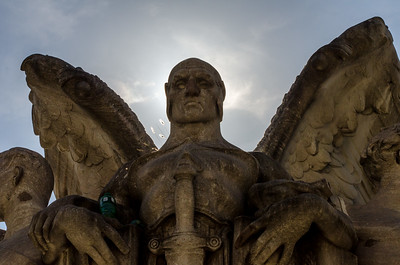 """The """"winged figure representing war"""" in the Meade Memorial kind of reminds of a gothic vampire of sorts."""