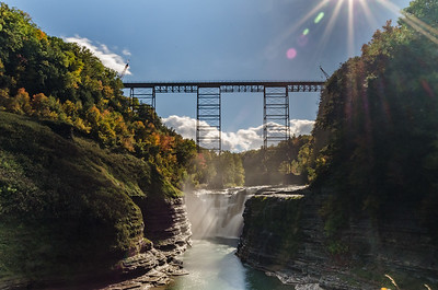 The soon to be removed trestle bridge still makes a good picture at Letchworth State Park