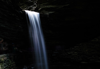 The Cavern Cascade Waterfalls was quite ethereal at Watkins Glen State Park