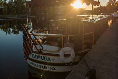 Sunset along the canal in Seneca Falls