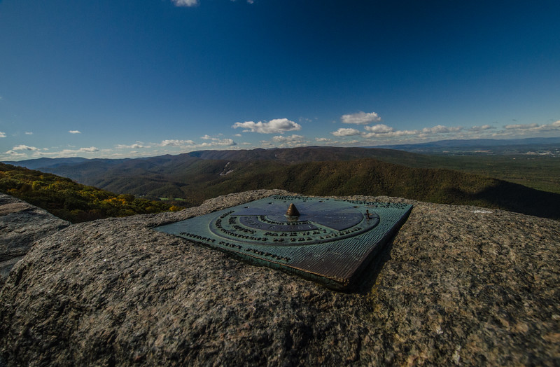 Made it down to the Blue Ridge Parkway. Here is the Landmark Map at Raven's Roost Overlook