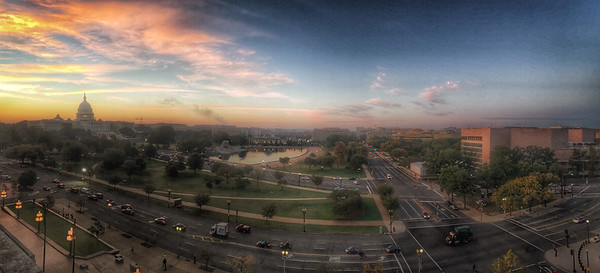 A panorama of the Capitol in the Fall