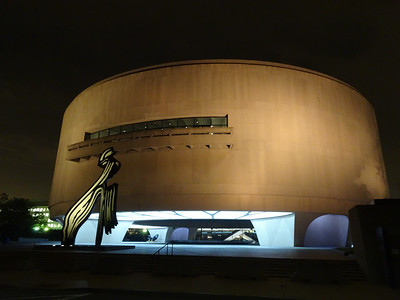 The Hirshhorn still looks pretty futuristic and retro at the same time