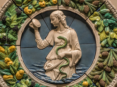 "The National Gallery of Art has a special exhibition going on of Luca Della Robbia, a 15th century sculptor. This work is called ""Prudence"""