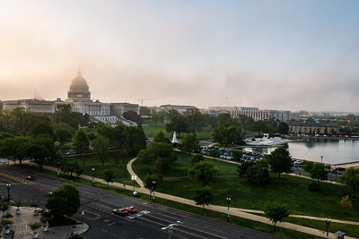 Lots of fog this morning on the Capitol this morning. The sun was working hard to burn it off