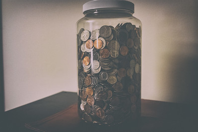 Not sure that coin jar is going to make the trip. Might be time to cash it out.