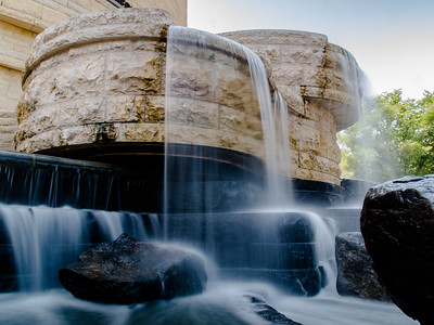 I have seem to have stumbled upon a theme this week of water. Not sure if I can keep it going. Here was have the very special fountain at National Museum of the American Indian. An artificial waterfall as fountain. Love this place and will missed it when I leave.