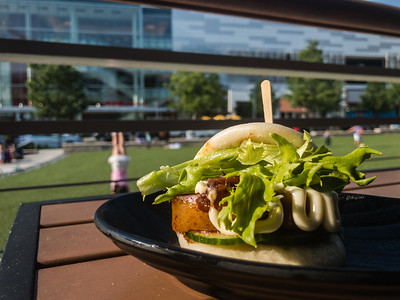 Eating outside does allow for some pretty good light and it shows with this great looking (and very testing) Jinya bun.