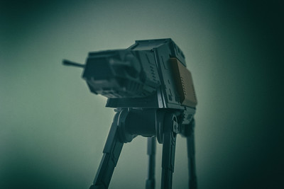One of this years presents was a you build it model of AT-ACT which I put together tonight and is my picture of the day.
