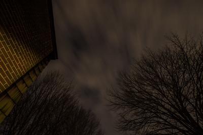 Clouds in the night sky