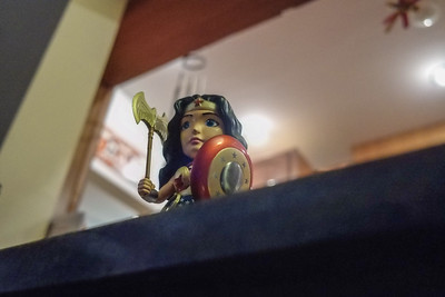 Went to a chili party, found an awesome Wonder Woman figure. When did she start carrying and battleaxe?