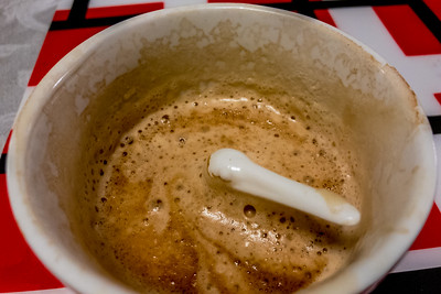 Is that a pelican peaking out of my coffee
