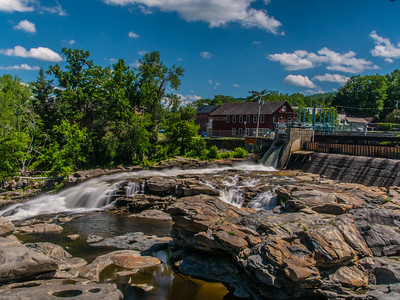 I broke out my ND filter and did some real long exposure two capture the Shelburne Falls