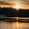Sun setting over Lake Accotink